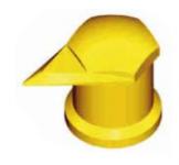 Индикатор колесной гайки с колпачком защищающим от пыли. Ø 65915-71